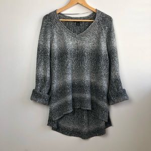 Style & Co Gray Knit Chunky Sweater Large